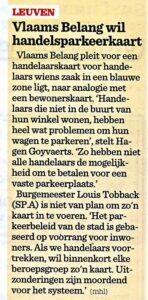 2014-10-28 Nieuwsblad VB wil handelsparkeerkaart